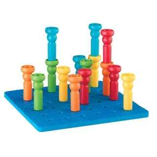 Lauri Tall Stacker Pegs and Pegboard Set, 26 Pieces
