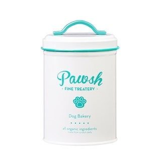 Amici Pet Pawsh Mint Fine Treatery Metal Storage Canister