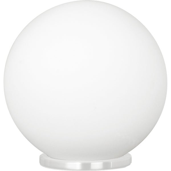 Eglo Rondo 1-Light White Round Table Lamp with Opal Frosted Glass. Opens flyout.