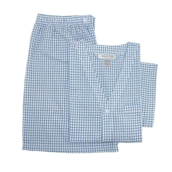 Geoffrey Beene Men's Big & Tall Short Sleeve Knee Length Pajama Set