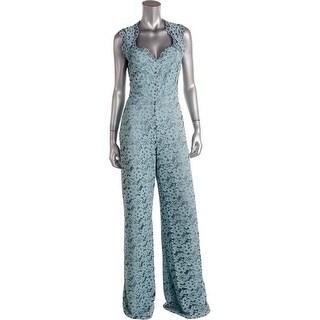 Alexis Womens Aruba-Lace Lace Wide Leg Jumpsuit - M