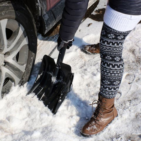 CASL Brands Snow Removal Kit for Cars and Trucks with Scraper, Shovel and Brush