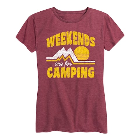Weekends Are For Camping - Women's Short Sleeve Graphic T-Shirt