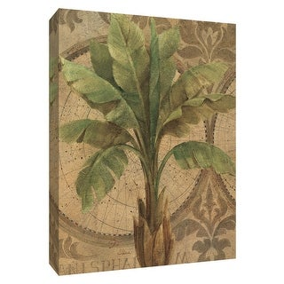 """PTM Images 9-154559  PTM Canvas Collection 10"""" x 8"""" - """"Decorative Palm I"""" Giclee Palms Art Print on Canvas"""