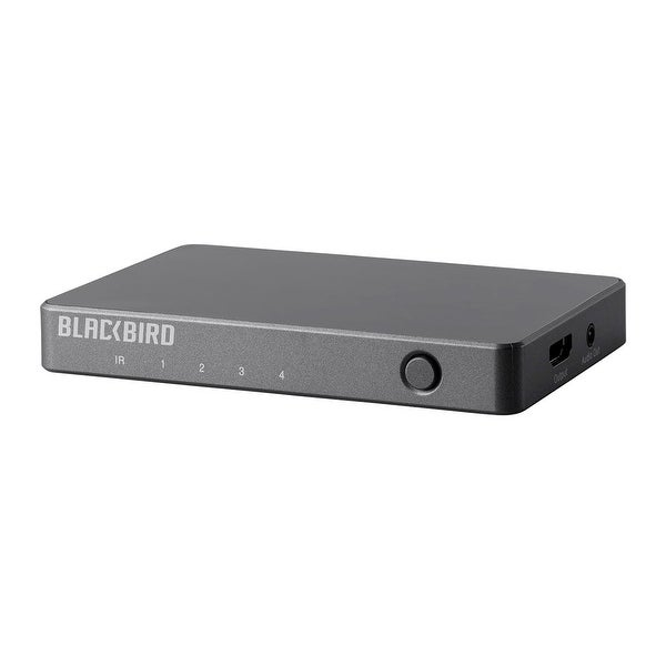 Monoprice Blackbird 4K 4x1 HDMI Switch with Audio Extractor - Black