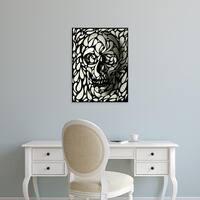 Easy Art Prints Ali Gulec's 'Skull IV' Premium Canvas Art