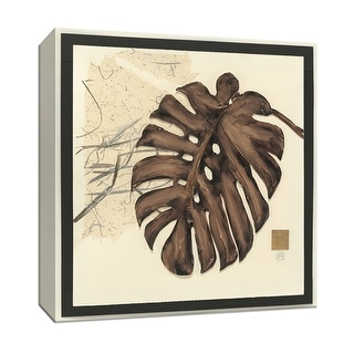 """PTM Images 9-153456  PTM Canvas Collection 12"""" x 12"""" - """"Collage Leaf I"""" Giclee Leaves Art Print on Canvas"""