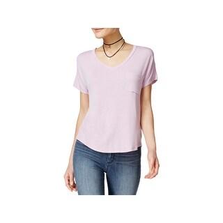Self Esteem Womens Juniors Casual Top Jersey Short Sleeves - L