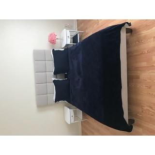 Sleep Sync Quincy Upholstered Linen Platform Bed