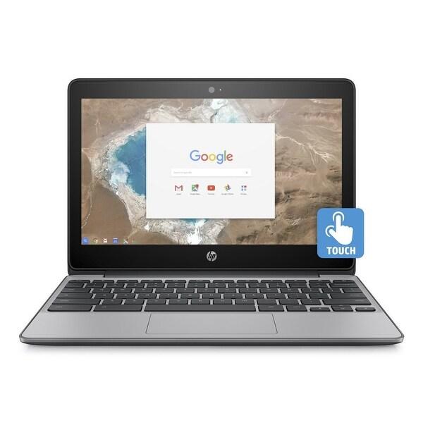 "Refurbished - HP 11-v011dx 11.6"" Chromebook Intel Celeron N3060 1.6GHz 4GB 16GB Chrome OS"