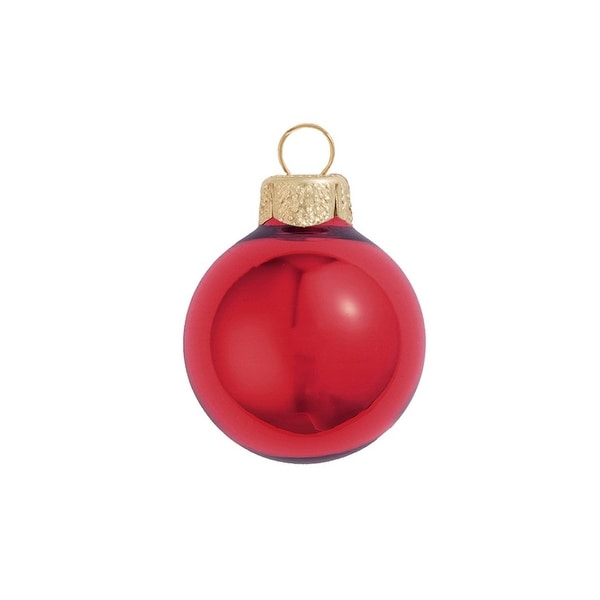 """6ct Shiny Rosewood Pink Glass Ball Christmas Ornaments 4"""" (100mm)"""