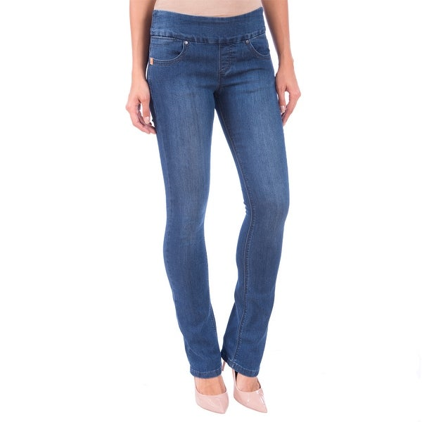 DISCONTINUED Lola Pull On Bootcut Jeans, Leah-MB