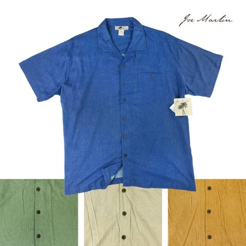 Joe Marlin Big & Tall Men's Short Sleeve Button-Down Shirt