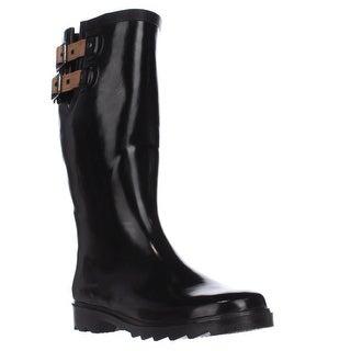 Chooka Top Solid Rain Boots, Black