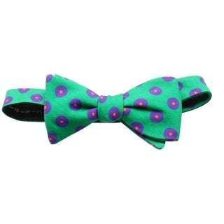 Ted Baker NEW Green Men's Adjustable One-Size Printed Wool Bow Tie