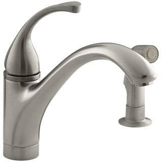 kohler k10416 single handle kitchen faucet with side spray from the forte collection