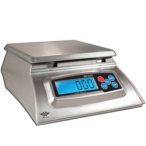 "My Weigh KD-8000 Digital Food Scale (Stainless Steel, Silver) - 9.8"" x 8"" x 3.8"""