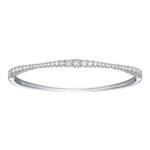 Lab Grown Diamond Bangle Bracelets for Women, 2 Ctw 10K Solid Gold by Smiling Rocks