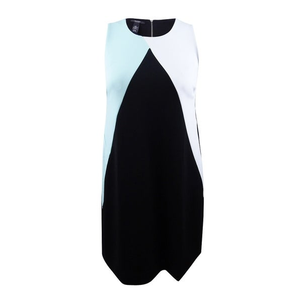 Shop Alfani Women\'s Plus Size Colorblocked Scuba Dress (14W, Tear ...