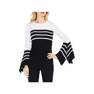 Vince Camuto Womens Pullover Sweater Knit Striped