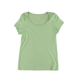 Nautica Womens Pajama Top Short Sleeves Scoop Neck