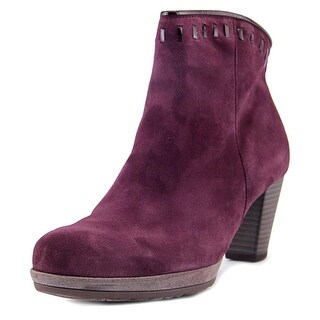 Gabor 75.791 Women Round Toe Suede Purple Ankle Boot