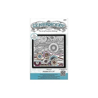 Design Works Zenbroidery Fabric 10x10 Waves