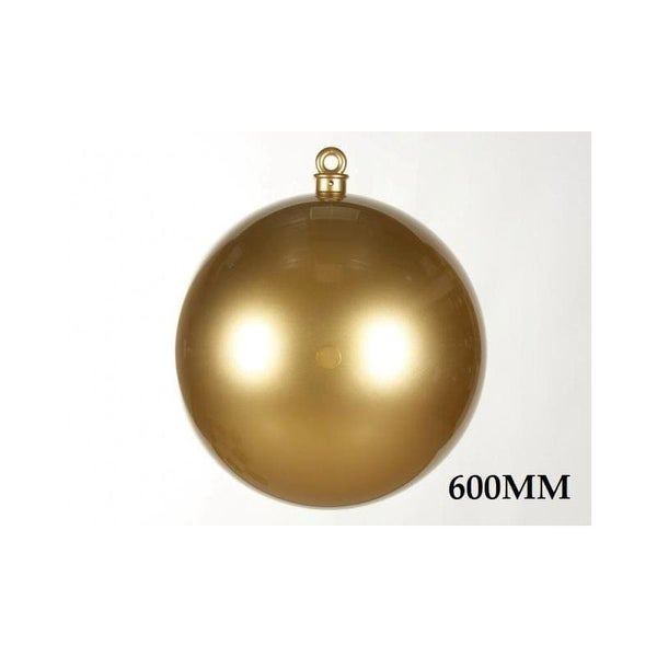 Christmas at Winterland WL-ORN-BALL-600-GO 23.6 Inch Ball Ornament Gold Smooth