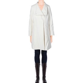 Elie Tahari Womens Wool Asymmetric Coat - 6