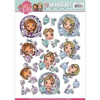Beautiful Girls - Find It Yvonne Creations Sweet Girls Punchout Sheet