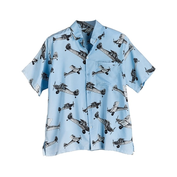 a0b5ab026c Shop Men's Airplane Print Camp Shirt - Short Sleeve Button Front ...