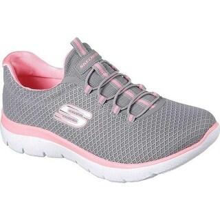 Skechers Women's Summits Training Sneaker Gray/Pink