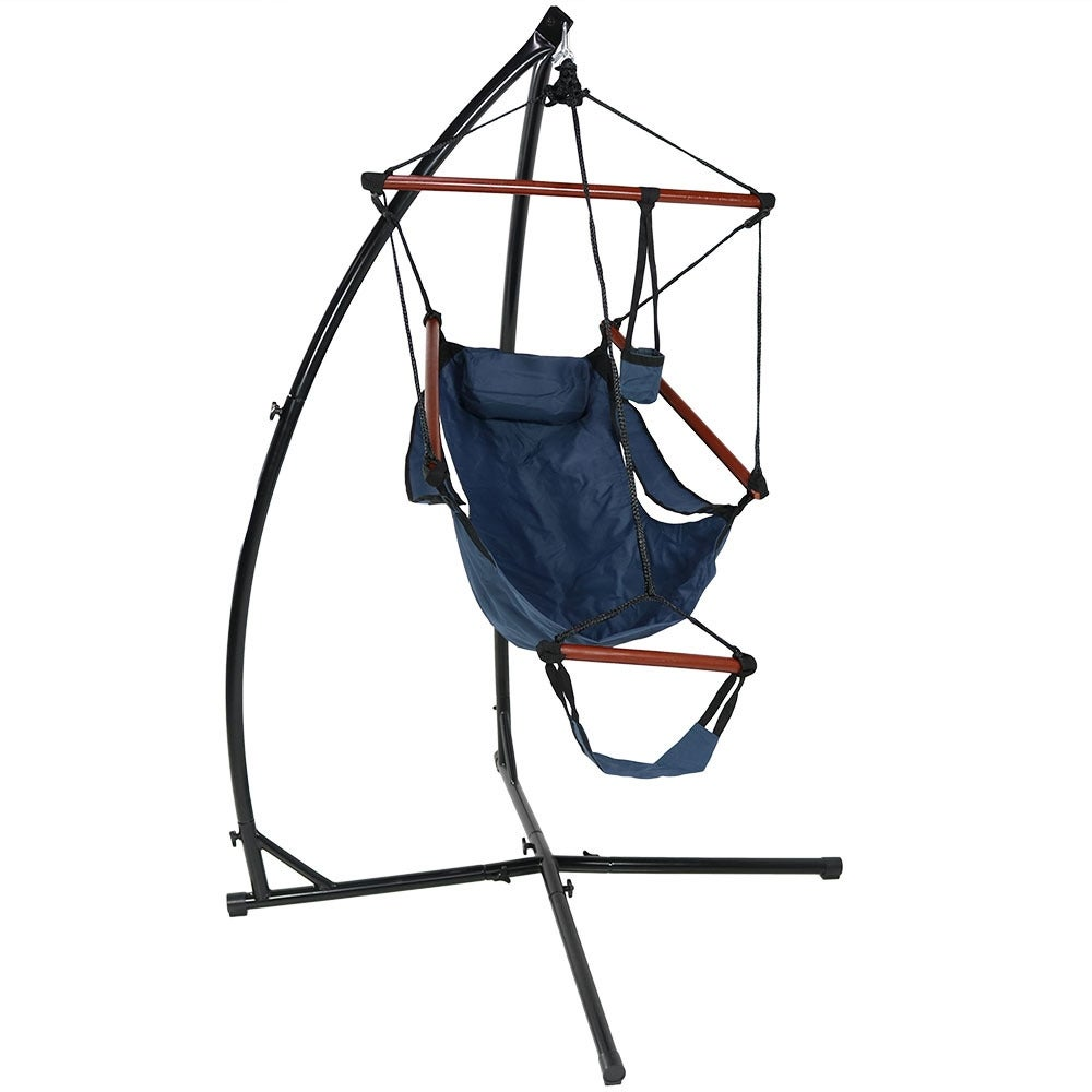 Sunnydaze Durable X-Stand and Hanging Hammock Chair Set or X-Chair Stand ONLY - You Choose - Thumbnail 24
