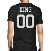 King 00 Back Number Black Couple Tee For Engagement Photo Shooting
