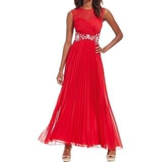 B. Darlin Womens Formal Dress Embellished Pleated
