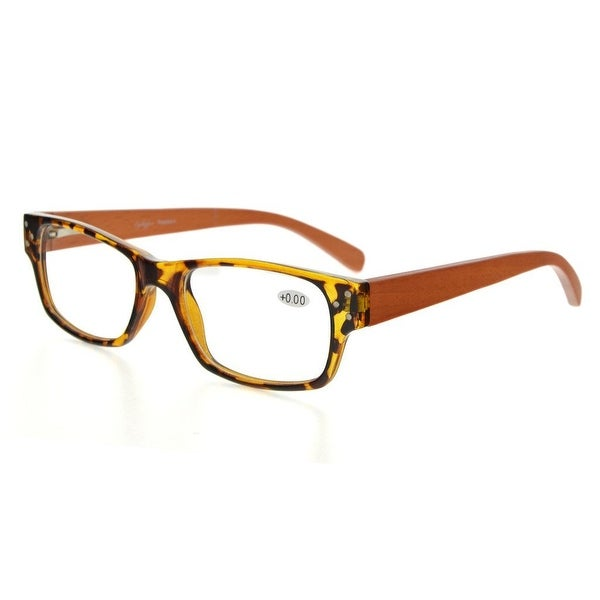 Eyekepper Spring Hinges Wood Arms Reading Glasses Men Women DEMI +2.0