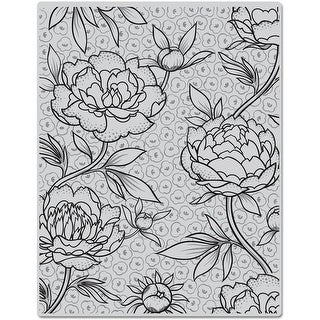 "Hero Arts Cling Stamps 4.5""X5.75""-Large Flower Background"