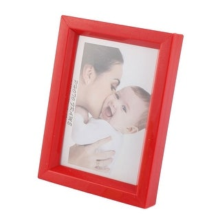 Home Office picture Photo Display Plastic Shell Stand Leg Frame Holder Red