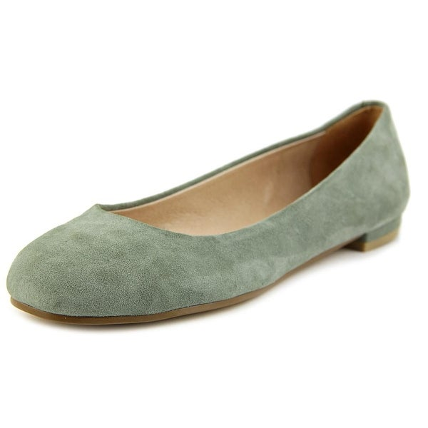 Nina Michelle Women Round Toe Suede Green Flats