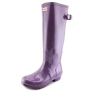 Hunter Original Tall Gloss Women Round Toe Synthetic Pink Rain Boot