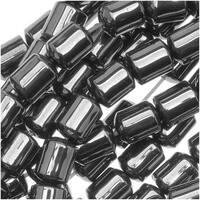 Steel Grey Hematite Sleek Capsule Tube Beads 4 x 5.5mm - 15.5 Inch Strand