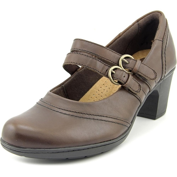 Earth Origins Bobby Women  Round Toe Leather Brown Mary Janes