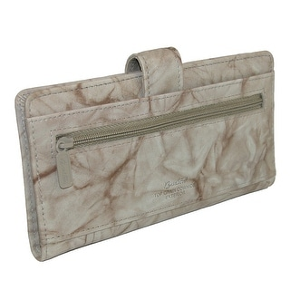 Buxton Women's Leather Slim Floral EmbossedCheckbook Cover Wallet - One size