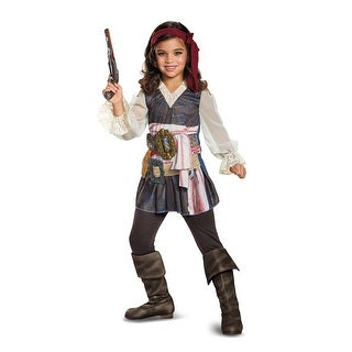 Girls Captain Jack Sparrow Pirate Halloween Costume