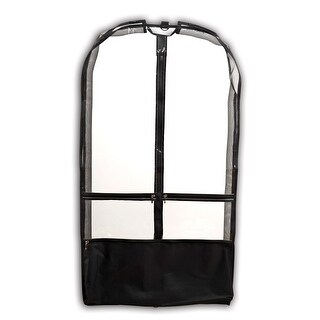 "Danshuz Girls Black Trim Pockets Clear Competition Garment Bag 37""x 20""x 3"" - One size"