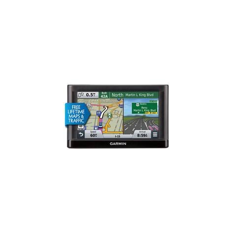 Refurbished Garmin Nuvi 55LMT 5 Inch Portable GPS w/ Lifetime Maps & Traffic (Certified Refurbished) - Black