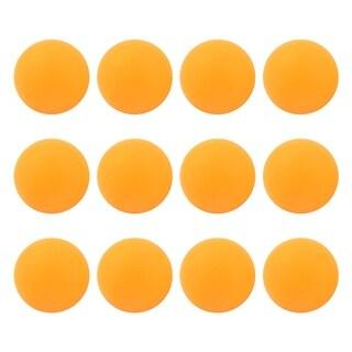 Unique Bargains 12 Pcs 40mm Dia Leisure Plastic Ping Pong Balls Table Tennis Balls Orange