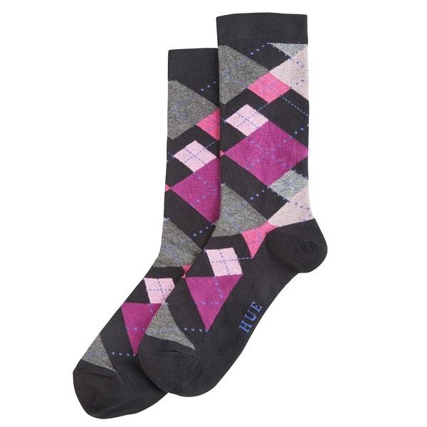 Hue Women's Irregular Argyle Socks
