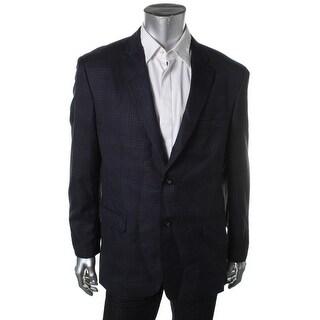 Greg Norman Mens Woven Window Pane Two-Button Suit Jacket - 42L