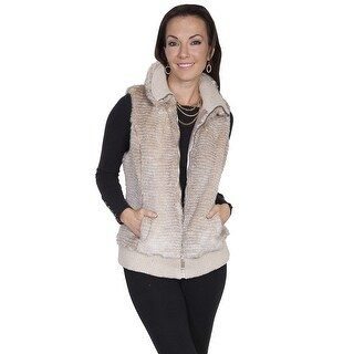 Scully Western Vest Womens Quality Imported Faux Fur Zipper